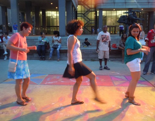 Elisa H. Hamilton Demonstrates Dance Moves