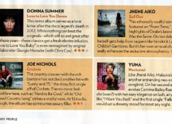 Both Yuna's Nocturnal and Donna Summer's Love To Love Love You Donna get 3 out of 4 stars in the latest edition of People Magazine on news stands Friday